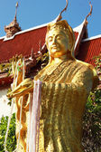Gold statue of Guan Yin temple Thailand. — Zdjęcie stockowe