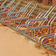 Stock Photo: Bicycle parking spaces at outdoor