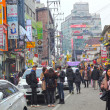 Stock Photo: SEOUL - November 26,2013: Street view of Nam Dae Mun Market, cro