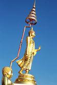 Buddha Golden Buddha image style - Temple Thailand. — Stock Photo