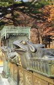 Old antique statues Seoraksan, Korea. — Stockfoto