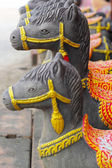 Sculptures, horse statues - in Thailand. — Stock Photo