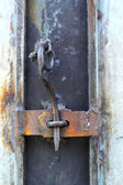 Vintage door - old wood door — Stock Photo