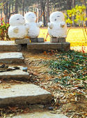 Isla de nami escultura muñeco de nieve, corea — Foto de Stock
