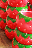 Hanging plant pots - pots strawberry — Stock Photo