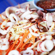 Grilled squid in a dish — Stock Photo