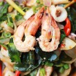 Spicy fried seafood, shrimp, squid. — Stock Photo #38559463