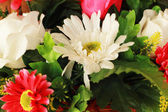 Beautiful chrysanthemums of artificial flowers — Stock Photo