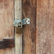 Old wooden door lock vintage style. — Stock Photo #38864495