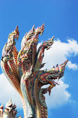 Thai dragon, King of Naga statue in Temple Thailand. — 图库照片