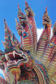 Thai dragon, King of Naga statue in Temple Thailand. — Foto Stock