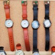 Handmade leather strap watch market. — Stock fotografie #39681793