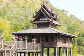 Thai Wooden House in the mountain — Foto Stock