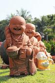 Novice statue in Thailand temple — Stock Photo