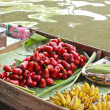 Stock Photo: Rose apple and mixed fruit for sale at Damnoen Saduak Floating M