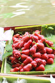 Rose apple for sale at Damnoen Saduak Floating Market - Thailand — Stock Photo