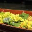 Stock Photo: Bananfruit for sale at Damnoen Saduak Floating Market - Thail