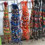 Thailand handmade crochet bracelet in market — Stock Photo