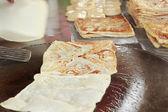 çapati pan pişirme — Stok fotoğraf