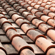 Close up of red roof tiles. — Stock Photo