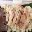 Stockfoto: Rice steamed with chicken - food asia