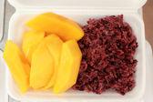 Mango sticky rice - Thailand desserts — Stock Photo