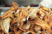 Fish fried in the market — Foto de Stock