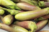 Eggplant purple in the market — Stock Photo