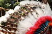 Native american indian chief headdress — Stock Photo
