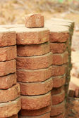 Gray brick for construction background texture — Stock Photo