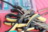 Closeup di strumenti di lavoro assortiti — Foto Stock