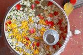 Floating jasmine - the Songkran Festival. — Stock Photo