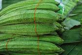 Fresh zucchini in the market — Stock Photo