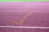 Running track - for  the athletes — Stock Photo