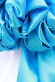 Close up of  blue ribbon fabric — Stock Photo