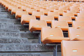 Stadium seats for visitors some sport or football — Stock Photo