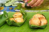 ココナッツ ミルク ミックス砂糖と小麦粉。-タイの他の種類 — ストック写真