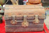 Close up of safe lock - vintage style — Stock Photo