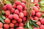 Ripe lychee in the market — Stock Photo