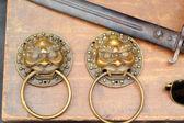 Antique doorknob lion - for sale. — Stock Photo