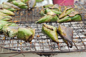 Sticky rice grilled asia food — ストック写真