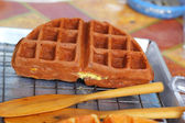 Sweet waffles in the market — Stock Photo
