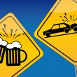 Drink driving, traffic control, drunken driving — Stock Vector