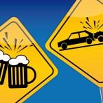 Drink driving, traffic control, drunken driving — Stock Vector