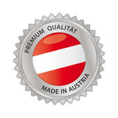 Made in Austria Button — Vettoriale Stock