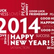 Vector de stock : 2014 New Year Greeting Card