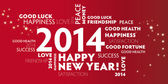 2014 New Year Greeting Card — Vecteur