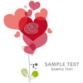 Love, hearts, wedding — Stock Vector