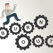 Постер, плакат: Burnout Stress workaholic