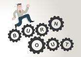 Burnout, Stress, workaholic — Stock Vector